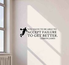 Lebron James Wall Decal Quote Poster Gift Vinyl Sticker Basketball Decor Art 668