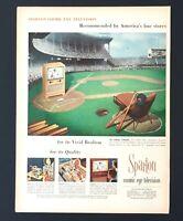 1953 Sparton Television Advertisement Cosmic Cincinnati Reds Baseball Print AD