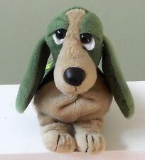 "HUSH PUPPIES BASSET HOUND DOG STUFFED PLUSH BEAN BAG APPLAUSE GREEN 8"""