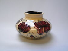 Moorcroft Chocolate Cosmos Design Squat Vase - Made in England