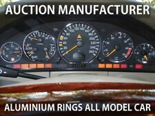 Mercedes R129 SL 1989-2001 Chrome Cluster Gauge Dashboard Rings Speedo Trim x5