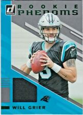 Will Grier Carolina Panthers WVU 2019 Donruss NFL Rookie Phenoms Jersey Relic RC