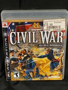 History: Civil War Secret Missions (Sony PlayStation 3, PS3, 2008) w/ manual