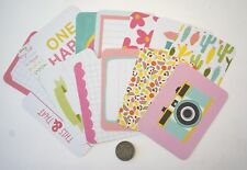 NO 035 SCRAPBOOKING - 14 JOURNALLING CARDS IN PASTEL SHADES - Scrapbooking