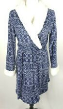 Ulta Bathrobe S/M Blue White Fleece Bath Robe