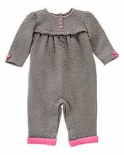 NWT Gymboree Girls Fun Flurries Comfy Gray and Pink One Piece Size 18-24 M