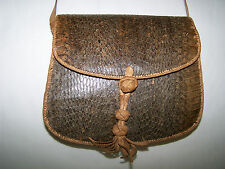 BORSA  POSTINO PITONE ARTIGIANALE POSTMAN  PYTHON AND LEATHER  BAG HAND MADE
