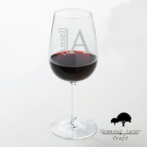 Personalised Engraved Large wine glass Name & Initial design  WGB1