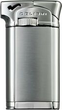 """COLIBRI CONNAUGHT II 2 """"CHROME/ SATIN"""" ANGLED FLAME PIPE LIGHTER * NEW in BOX *"""