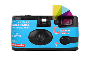 Lomography Simple Use Reusable Analogue 35mm Film Camera 36 Exp Film Ready To Go
