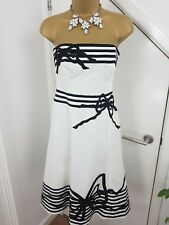 Coast Dress Strapless A Line Party Weeding Special Occasion White Size UK 8