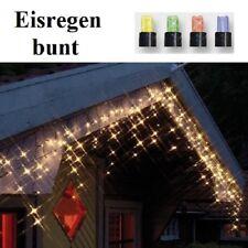 LED Eisregen Lichterkette 144er bunt / schwarz Best Season 498-51