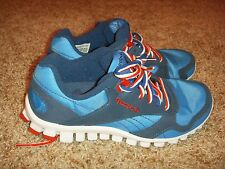 REEBOK REALFLEX Blue Red White Womens Size 5.5