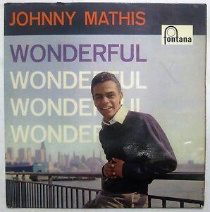 JOHNNY MATHIS- Wonderful- 10 inch LP- RARE HOLLAND PRESSING- Fontana 1957