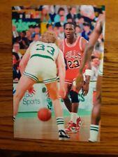 New listing Michael Jordan Bulls Larry Bird Celtics Basketball 4x6 Game Photo Picture Card
