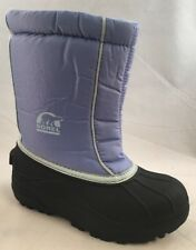 Sorel Kids Snow Command Girls Blue Boots Size 13
