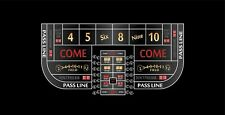 Craps table layout single dealer 6 to 8 foot black