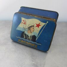 Russland Soviet Union Russian cigarette tobacco Navy tin 1930's Stalin Era WWII