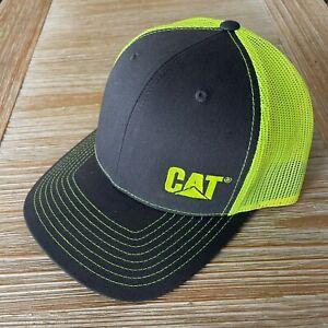 NEW - Caterpillar Cat Equipment Richardson 112 Trucker Hat Cap - Hi-Vis Yellow