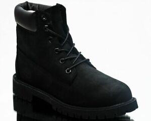 Timberland 6 Inch Premium Waterproof Boots Men's Black Leather Lifestyle Shoes