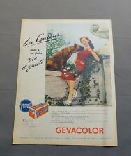 PUB PUBLICITE ANCIENNE ADVERT CLIPPING 040717/ PELICULE PHOTO GEVACOLOR LA COULE