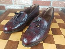 Wright Whippet Ii Arch Preserver Cordovan/Burgundy Kiltie Loafer, Size10.5 D