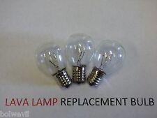3 X 25w LAVA LAMP LIGHT BULB S type E17 BASE 25 watt S11, 25s11, 25s11N, S11N25