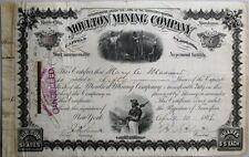 William Clark Autograph 1886 Montana Territory, Moulton Mining Stock Certificate