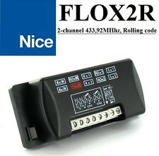 Nice FLOX2R receiver, 2-channel in housing, 433,92MHz Rolling code, AC/DC 12-24V