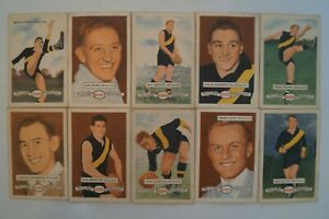 Richmond Tigers 1958 Vintage Atlantic Football Card Set of 10 big, BIG Names