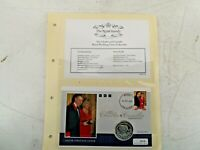 2005 CHARLES & CAMILLA WEDDING PNC COIN COVER 925 SILVER PROOF Sierra Leone A29