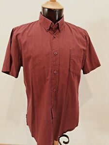 Zoo York Sz XL Maroon Spotted 100% Cotton Short Sl Shirt  Marked