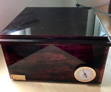 Hydromist Jeffrey Scott Vintage Cigar Humidor Box Cherry Rosewood Finish