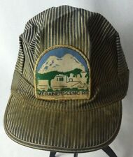 Vtg Mt. Rainier Scenic RR Blue Engineer Conductor Hat Train Railroad Adult Large