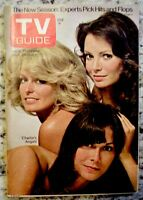 TV Guide 1976 Charlie's Angels Farrah Fawcett Majors Kate Jaclyn #1226 VG/EX COA