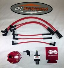 JEEP CHEROKEE 45K 4.0L IGNITION TUNE UP KIT XJ 1991-1993 RED CAP + RED WIRES