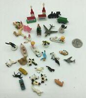 Vintage Mini Farm Animal Tiny Figures Cows Horses Christmas Village
