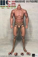 GangHood 1.0 1/6 Muscular Figure Body For Bane Arnold Wolverine Head Play Usa