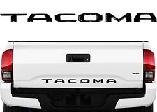 Black Tailgate Letter Inserts Emblem Badge For 2016-2017 Toyota Tacoma New USA