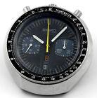 1976 SEIKO Chronograph Automatic Black Bullhead JDM 6138 0040 Mens Wrist Watch
