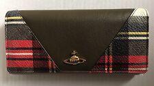 Vivienne Westwood Olive Tartan Leather Purse BNIB Bag Clutch Handbag