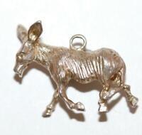 Christmas Nativity Scene Donkey Sterling Silver Vintage Bracelet Charm 5.7g