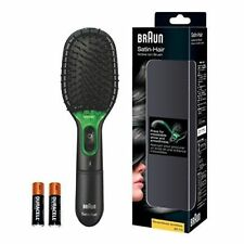 Braun BR710 BLACK Satin Hair 7 Iontec Woman Hair Brush Battery Powered Brand New