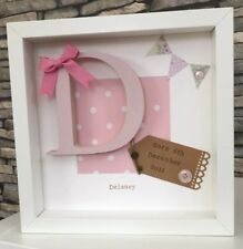Personalised New Baby, Birth, Christening, Boy & Girl Frames Gift - Keepsake