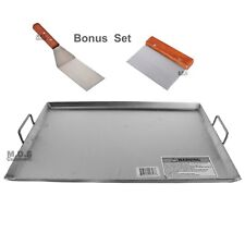 """Griddle Flat Top Stainless Steel Grill Plancha Comal Heavy Duty NEW 19.5"""" x 13"""""""