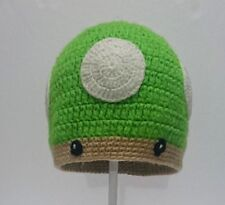 Toddler Kids Girl&Boy Baby Crochet Knit beanie cap 1up toad mario bros mushroom