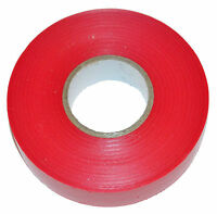 RED ELECTRICAL PVC INSULATION / INSULATING TAPE 19mm x 20m FLAME RETARDANT