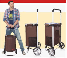 D96 Rugged Aluminium Luggage Trolley Hand Truck Folding Foldable Shopping Cart