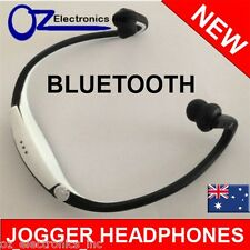 Bluetooth Headphones sprint jogging running sport for IPHONE 6 Samsung WHITE