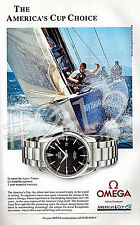 OMEGA SEAMASTER AQUA TERRA WATCH ADVERT 2002 America's Cup Choice Advertisement